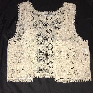Charlotte Russe lace crop vest